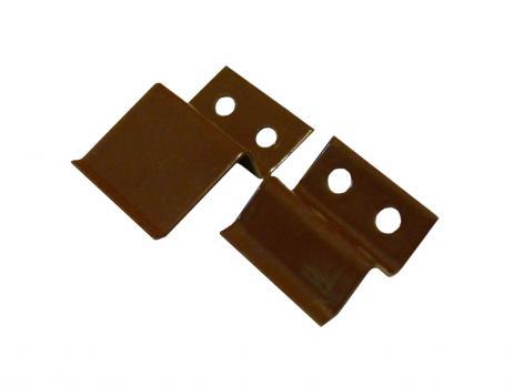 Крепление верх-низ для москитной сетки коричневое