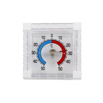 Термометр оконный Биметалический квадратный