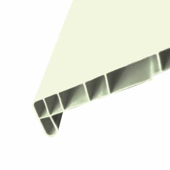 Подоконник пластиковый белый Атлант, ширина 100 мм