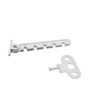 Ограничитель открывания (гребенка) белая металл