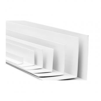 Уголок ПВХ Евроконст 40*20 мм белый 3 м