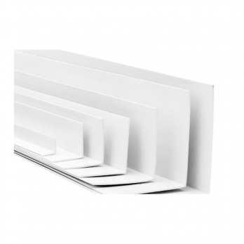 Уголок ПВХ Евроконст  40*40 мм белый 3 м