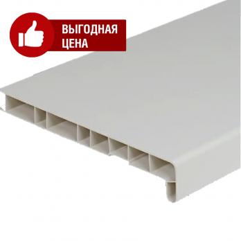 Подоконник пластиковый белый (Витраж), цена за м.кв